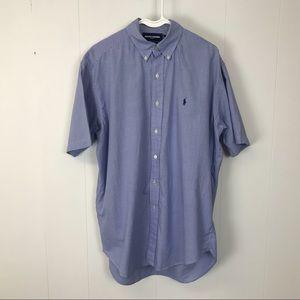 Ralph Lauren golf Blake blue shirt M